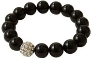Soiree Pearl Pave Bracelet-Black