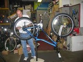 We have all your bicycle needs in our shop! From buying a new bike to repairing an old one you have laying around.