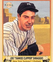 Joe Dimaggio his baseball card.