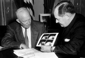 President Eisenhower Signing the Act