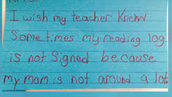 What I Wish my Teacher Knew About Me