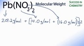 Molar Mass of Reactants and Product
