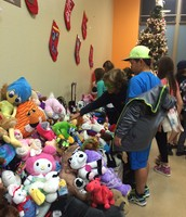 Look at all of those stuffed animals!