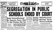 """Segregation in public schools ended by court"""