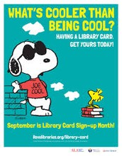 September is National Library Card Sign Up Month!