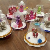 Plastic Cup Snow Globes