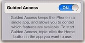 Guided Access for iPad