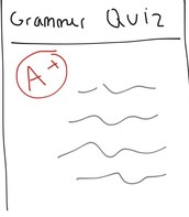 boy's Grammar Quiz
