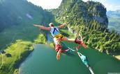 water bungee jump