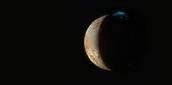 The plume on Jupiter's surface