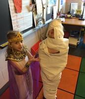 Mummy wrapping!