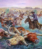 Painting of Chisholm Trail