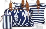 How Does She Do It Tote-Blue Ikat