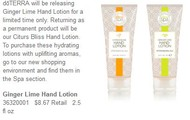 Don't forget the new hand lotions!