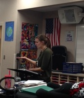 Mrs.Alexander conducting They Can't Take That Away From Me.