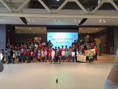 Grade 2 poses for a proud photo!