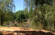 Lake side picnic area