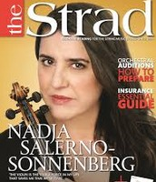 "Nadja on the front cover of the ""The Strad"""