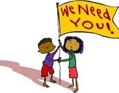 Volunteers Needed. . .
