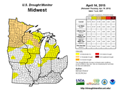 drought monitor in the Midwest