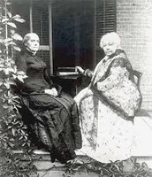Susan B Anthony and Elizabeth Cady Stanton.