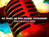 Art, Drama, and Music Teachers