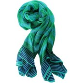 Palm Springs Scarf - turquoise/green stripe