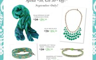 Spend $50 get 50% and add a POP of color to your fall