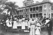 The annexation, in iolani palace