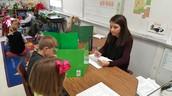 2nd Grade Teacher Katy Canote testing a few students
