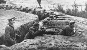 French Soldiers using Trench Warfare