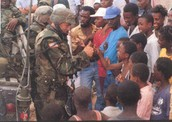 American military helping the people of Haiti