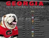 Georgias football schedule