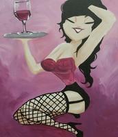Wine Girl Pin- up $35.00