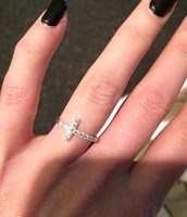 Both SOLD!!!!! cross ring, all Sterling Silver,  I have  2 SIZES For sale!! Was $42, now $20