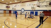 5th grade basketball getting after it!