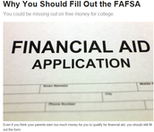 Why fill out the FAFSA?