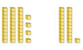 Adding base ten blocks