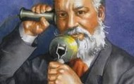 alexander graham bell talking on the phone