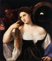 The woman with a mirror (1513)