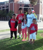 my brothers and sister at the Texas rangers game
