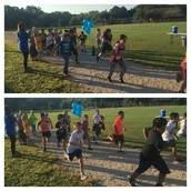 And they're off! First group of Panthers are getting laps in at our Marathon Kids Kickoff!