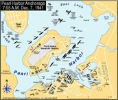 Map of the Pearl Harbor Attack