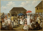 Market, Dominica, West Indies, 1770s