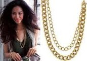 La Coco Curb Chain Necklace w/ Bracelet - Gold