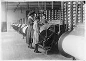 Inside Slater's Textile Mill