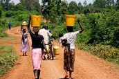Women in water-stressed regions, walk on average, 3.5 miles everyday to get water to their homes.