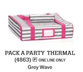 Pack A Party Thermal In Grey Wave