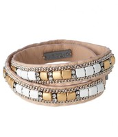 Cady Leather Wrap Bracelet (tan)