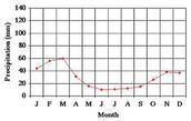 Graph of the annual precipitation